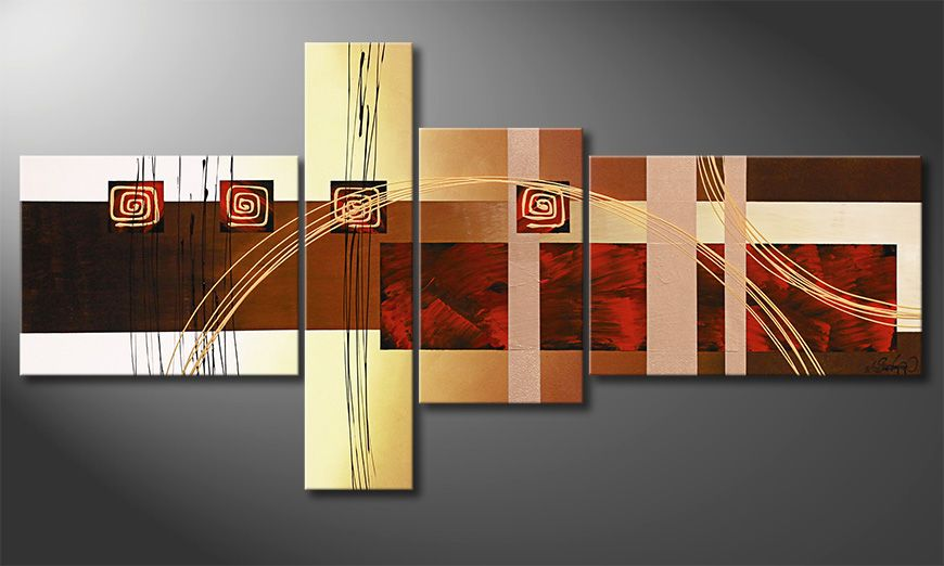 Das Wohnzimmerbild Golden Ways 160x80x2cm