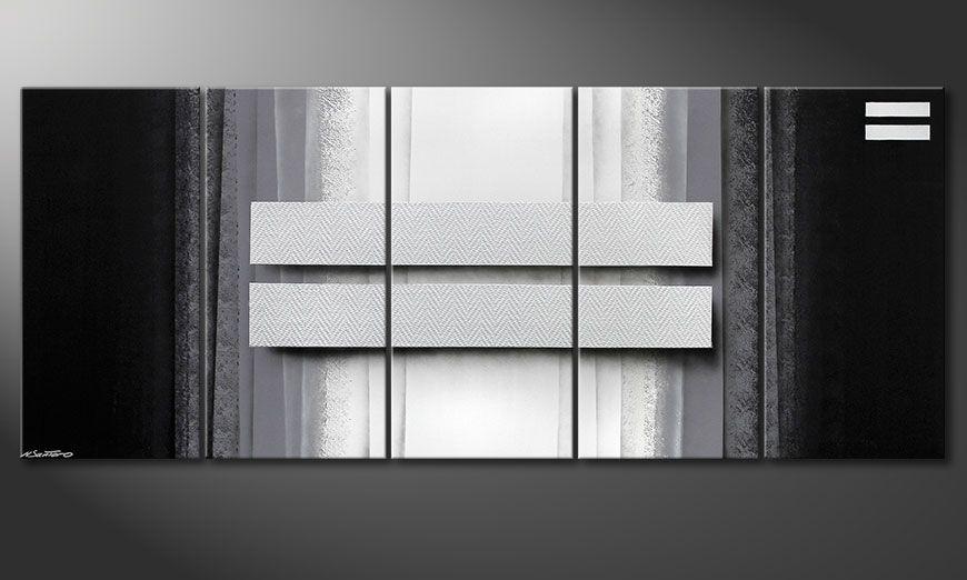 Das Wohnzimmerbild Silver Rain 200x80x2cm
