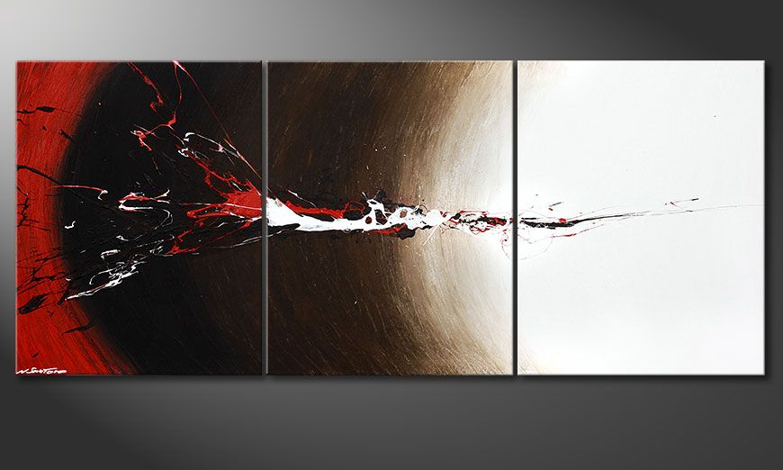Das XXL-Bild Erupted Contrast 210x90x2cm