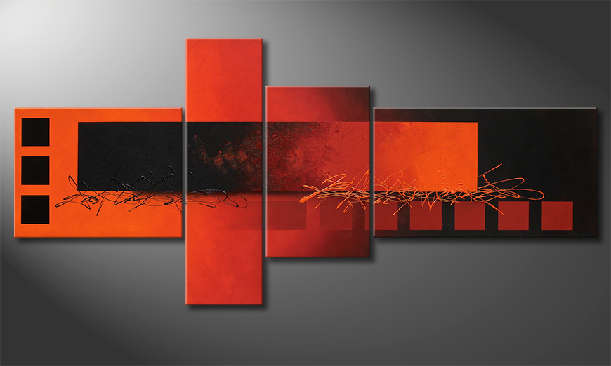 Das XXL-Bild Fiery Emotions 220x100x2cm