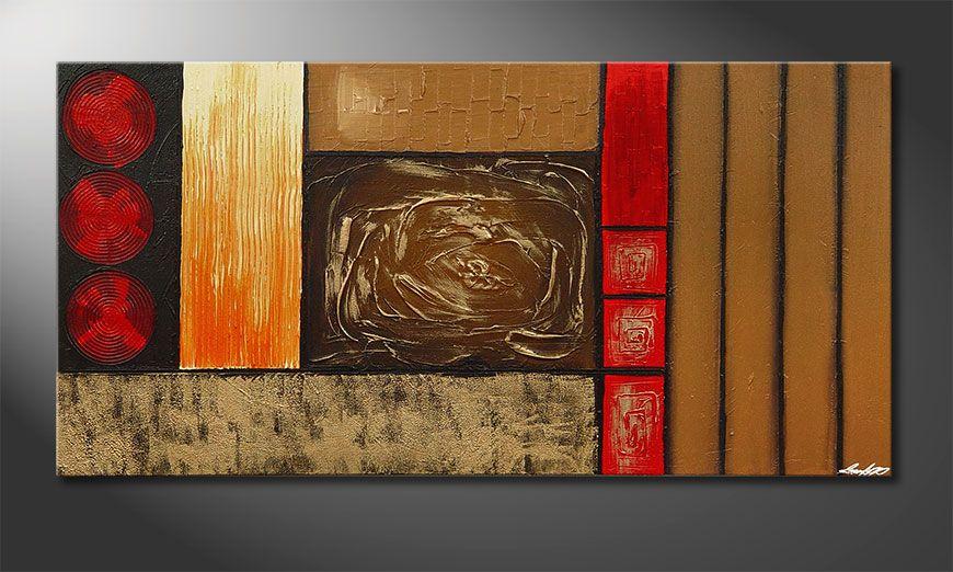Das XXL-Bild Stoned Roses in 140x70x2cm