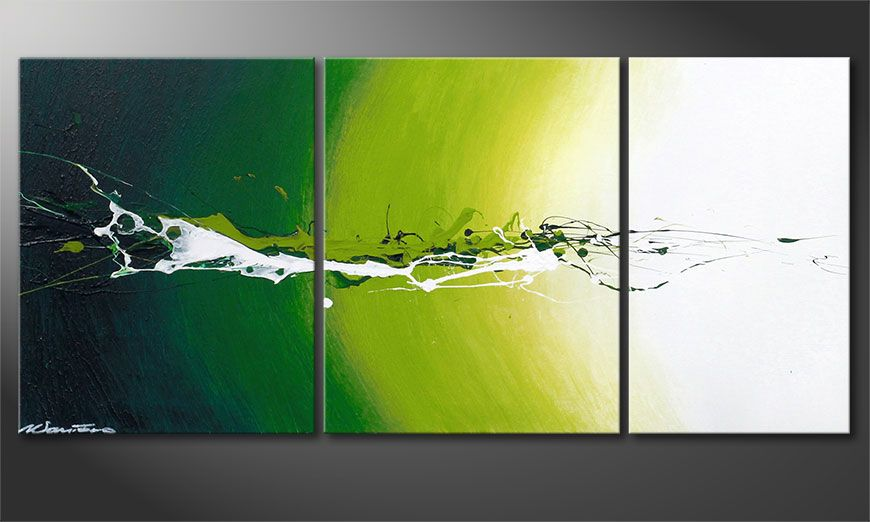 Das abstrakte Bild Power of Nature 110x50x2cm