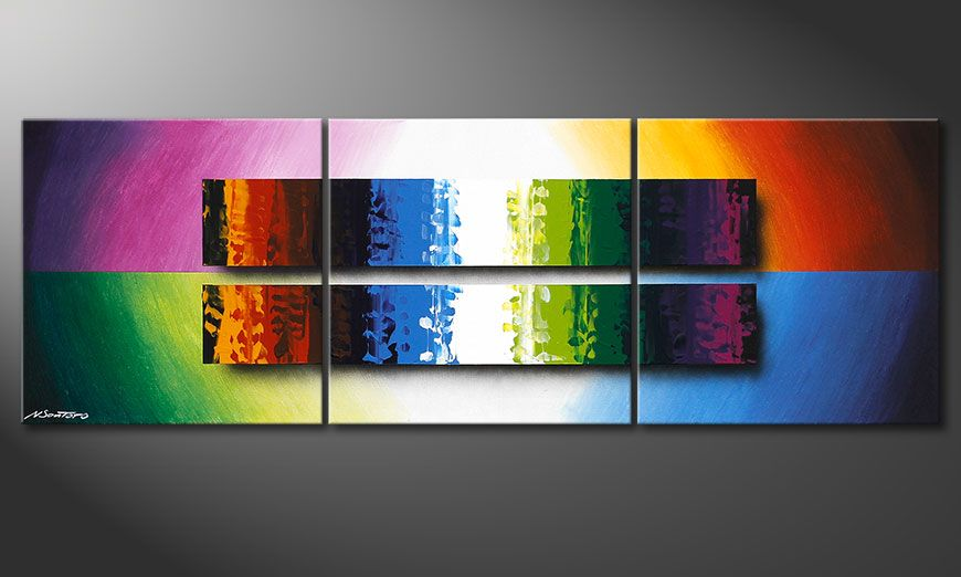 Das bunte Wandbild Expression of Colours 150x50x2cm