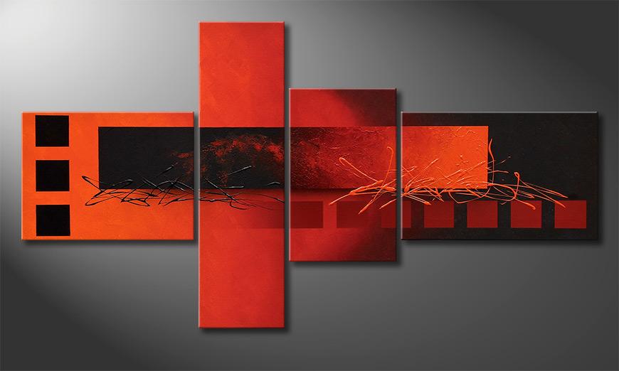 Das exklusive Wandbild Fiery Emotions 130x70x2cm