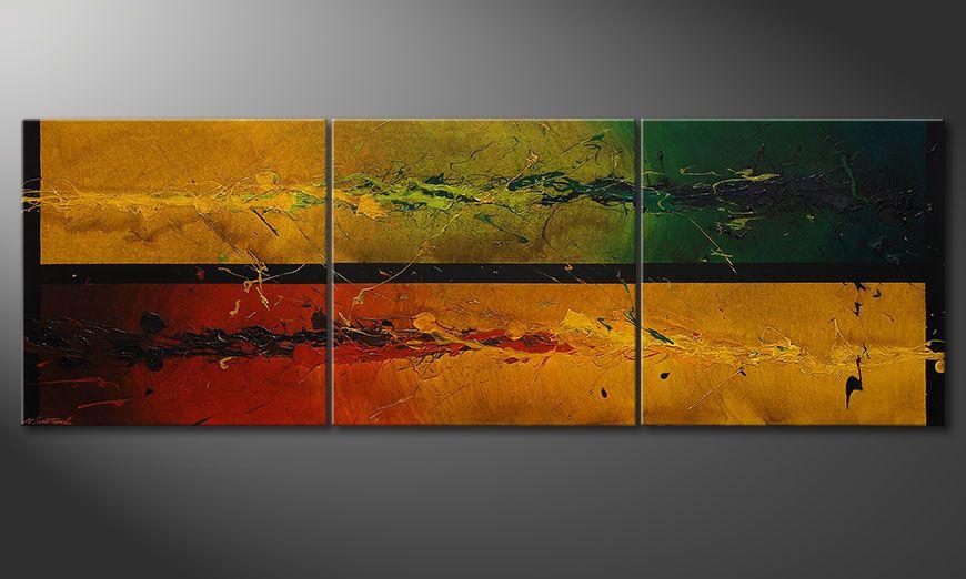 Das große Wandbild Blowing Elements 240x80x2cm