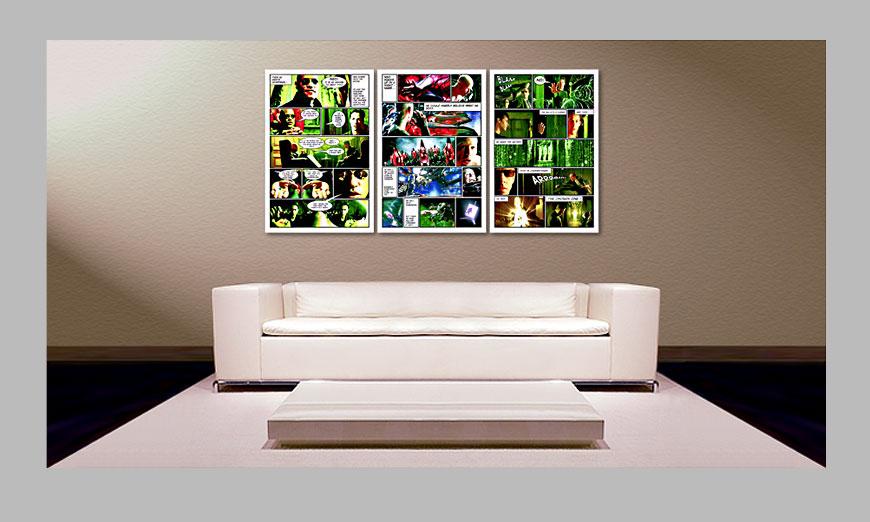 das gro e wandbild matrix in 180x90cm wandbilder xxl. Black Bedroom Furniture Sets. Home Design Ideas