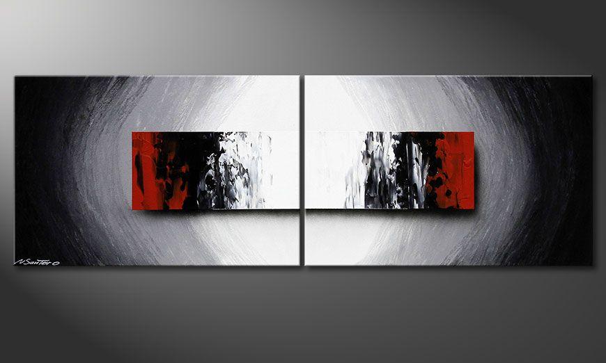 Das handgemalte Acrylbild Deep Space 120x40x2cm