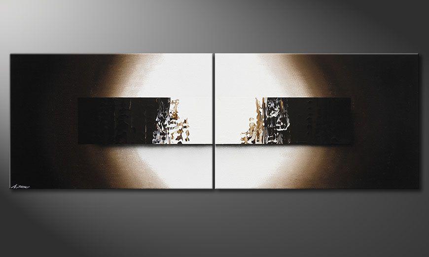 Das handgemalte Bild Light Rain 240x80x2cm