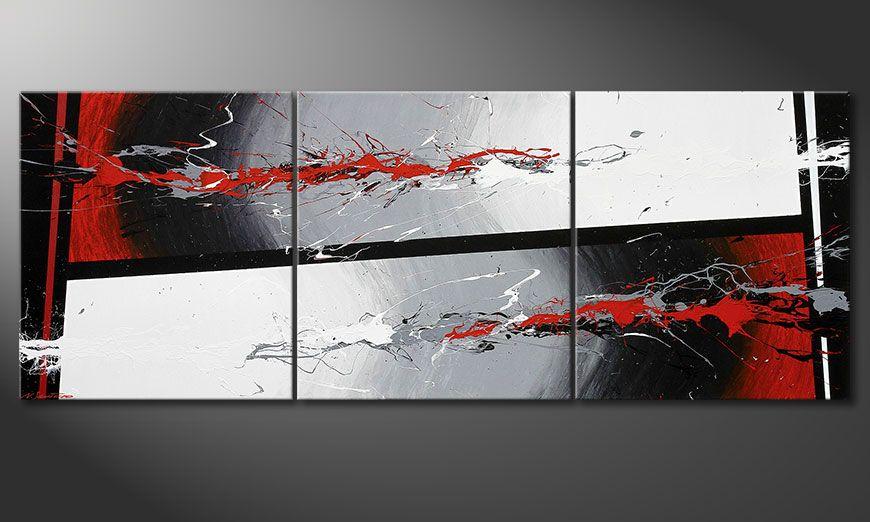 Das mehrteilige Bild Powerful Contrast 240x90x2cm