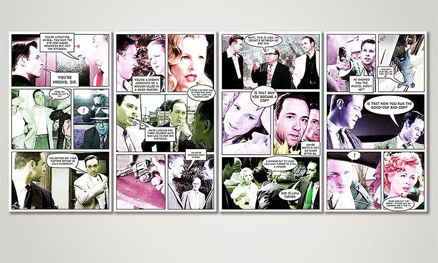 Das moderne Bild LA Confidential 160x70x2cm