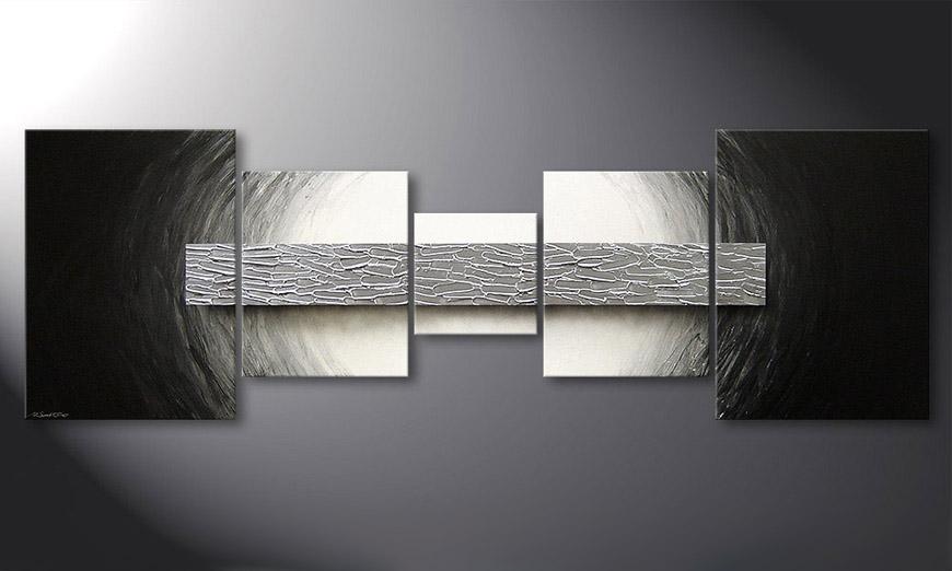das moderne bild silver bar 210x70cm wandbilder xxl