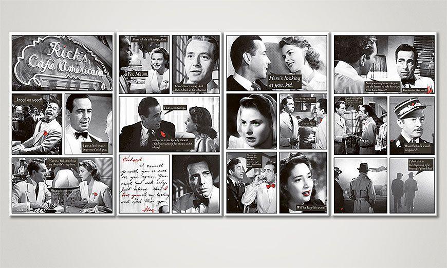 Das moderne Leinwandbild Casablanca 160x70x2cm