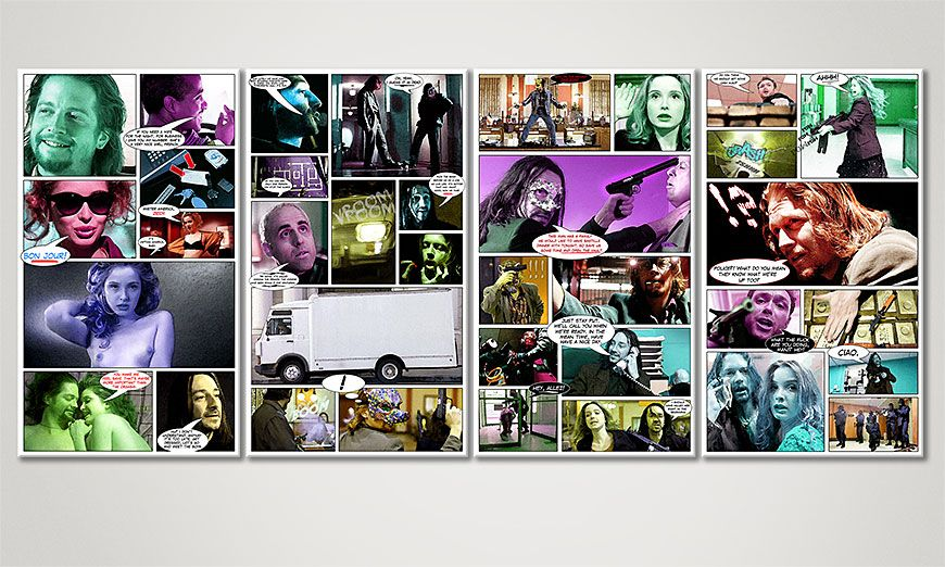 Das moderne Wandbild Killing Zoe 160x70x2cm
