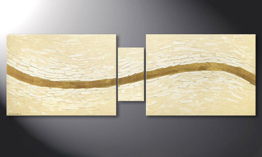 Das moderne Wandbild Mellow River 180x60x2cm