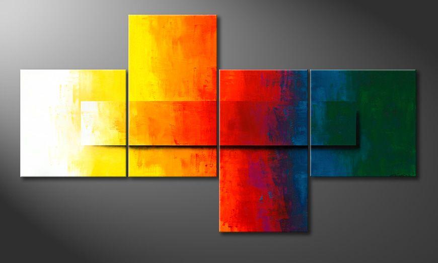 Das moderne XXL Bild Rainbow Colors 220x120x2cm