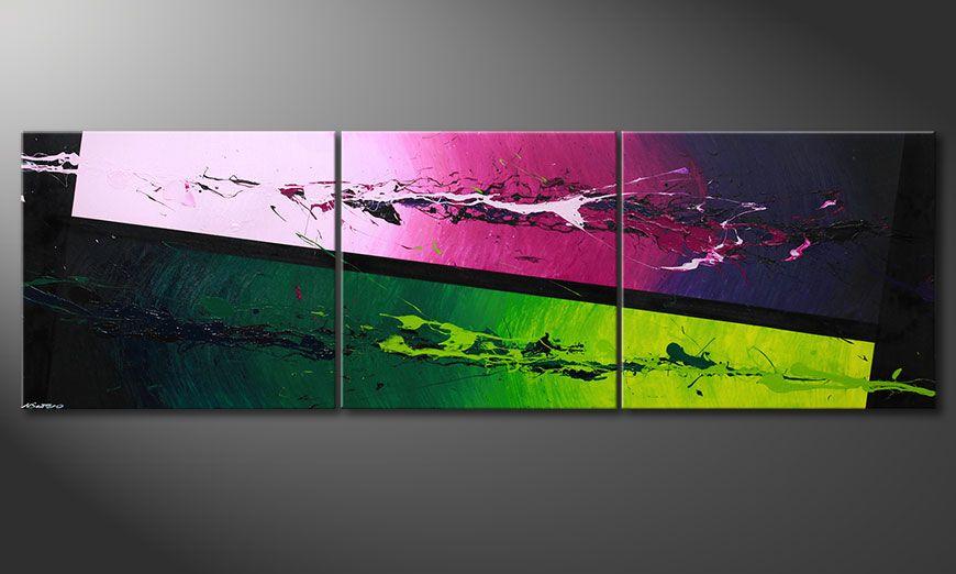 Das moderne XXL-Bild Tropic Splash 260x80x2cm