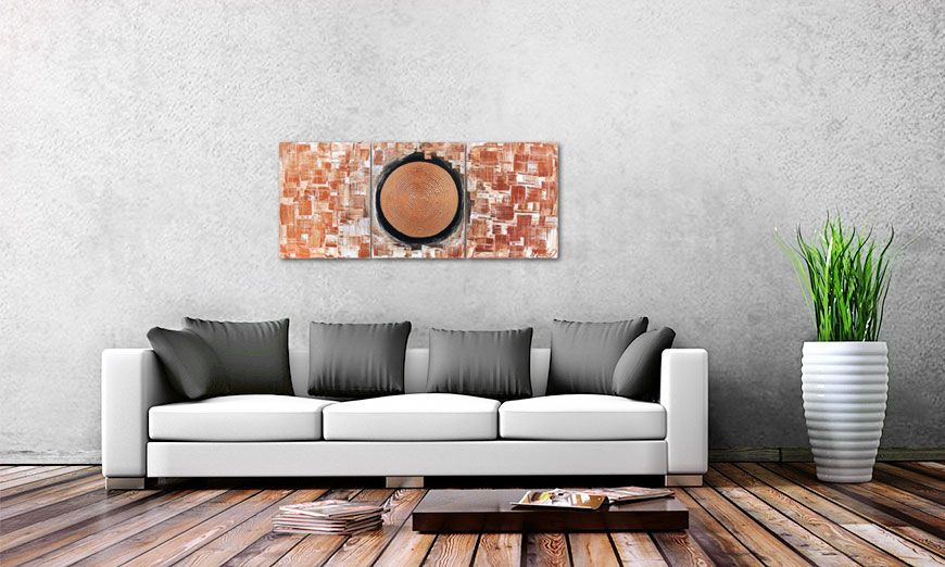 Golden Center 120x50cm Wandbild