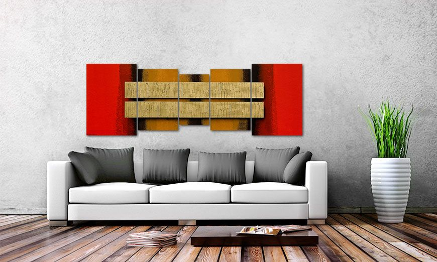 Two Treasures 210x70cm Wandbild