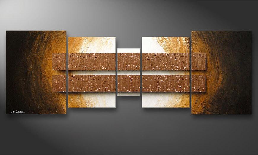 Unser Wandbild Copper Blocs 200x70x2cm
