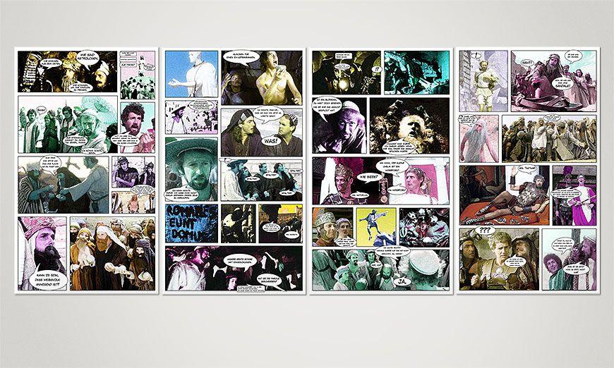 Unser Wandbild Das Leben des Brian 160x70x2cm