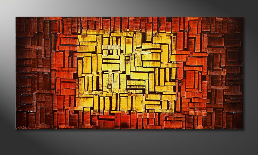 Unser Wandbild Fire Cubes in 120x60x2cm