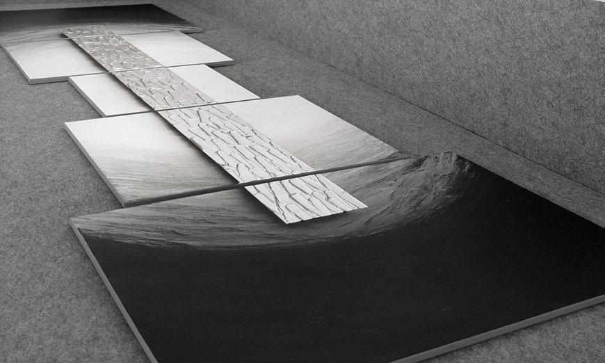 Unser XXL Wandbild Silver Bar 260x80x2cm