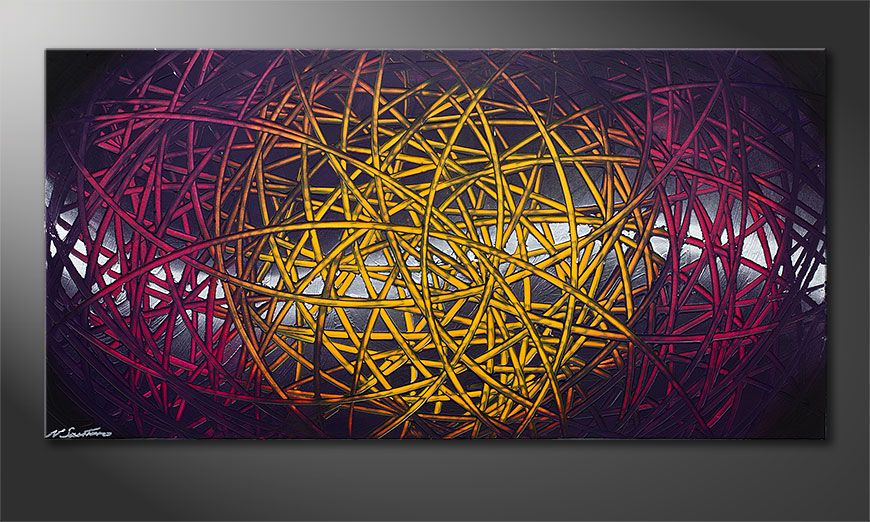Unser modernes Bild Indian Moonlight 140x70x2cm