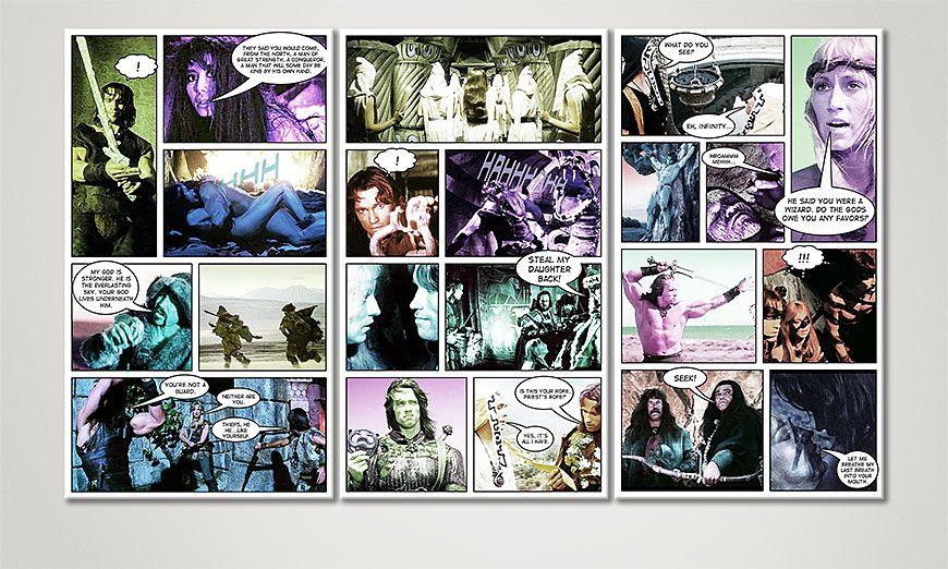 Unser modernes Wandbild Conan in 120x70x2cm