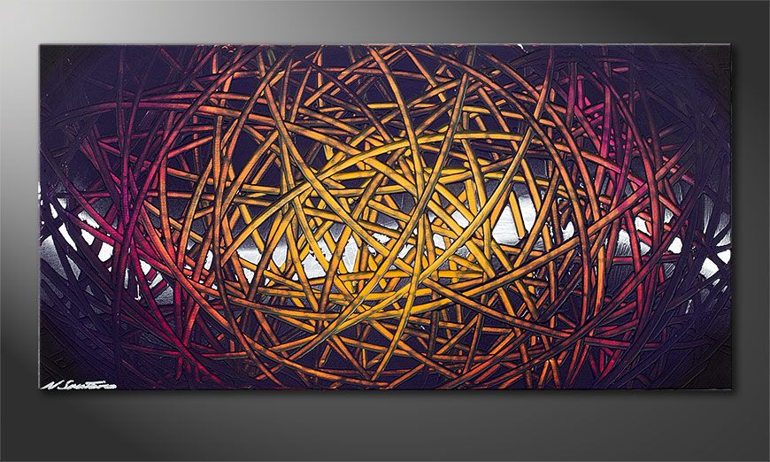 Wandbild modern Indian Moonlight 100x50x2cm