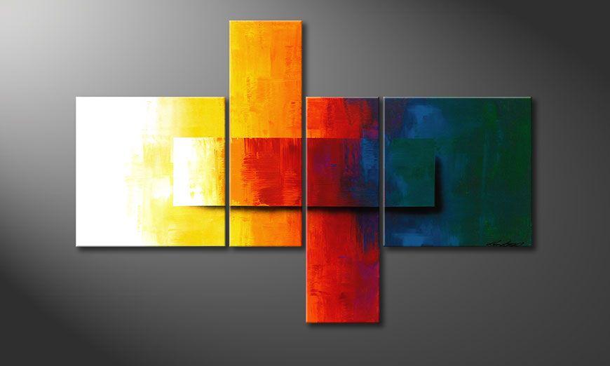 Wanddekoration mit Rainbow Colors 120x80x2cm