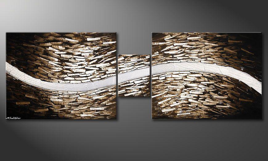 Wohnzimmerbild Clear River 230x80x2cm