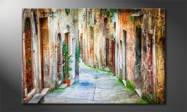 Das Wandbild<br>'Charming Alley'