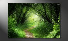 Das Leinwandbild<br>'Way into the Forest'