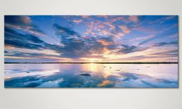 Das Wandbild<br>'Heaven on Earth' in 120x50cm