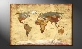 Das Leinwandbild<br>'Old Worldmap 4'