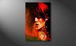 'Burning Red' 60x100cm Wandbild