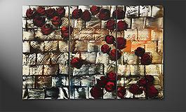 'Colored Roses' 120x60cm Wandbild