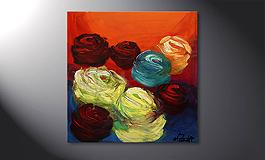 'Colors of Roses' 70x70cm Wandbild