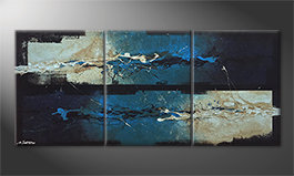 Das Bild 'Against The Drift' 180x80x 4 cm ( ! )