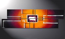 Das Bild 'Sunrise Construction' 200x60cm