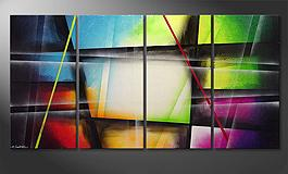Das LeinwandBild 'Window to Rainbow' 160x80cm