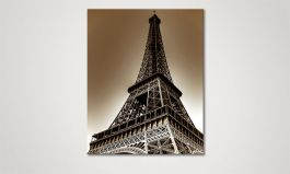 Das Leinwandbild 'Eiffel Tower' in 80x100cm