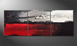 Das Leinwandbild 'Head vs. Heart' 210x80cm