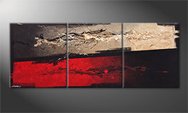 Das Leinwandbild 'Mind Splashes' 180x70cm