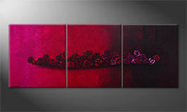 Das Wandbild 'Bed Of Roses' 210x80cm