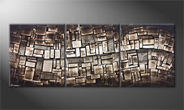 Das Wandbild 'City Lights' 180x70cm