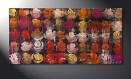 Das Wandbild 'Colored Roses' 120x60cm