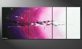 Das Wandbild 'Cosmic Splash' in 170x70cm