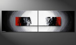 Das Wandbild 'Deep Space' in 200x60cm