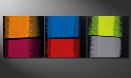 Das Wandbild 'Departed Colors' 210x70cm